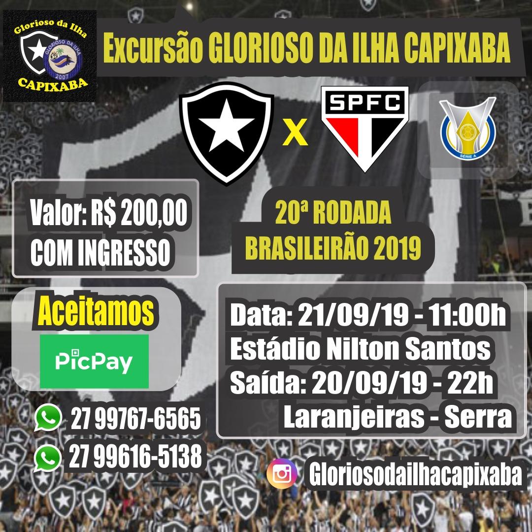 EXCURSÃO BOTAFOGO X SÃO PAULO