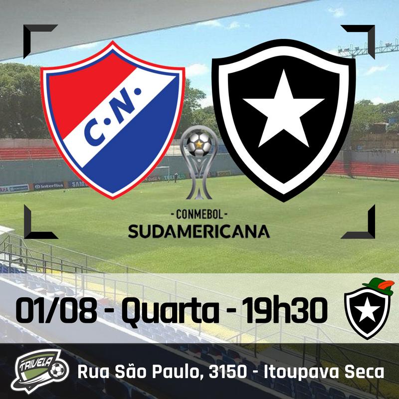 Nacional-PAR x Botafogo - Sul-americana no Trivela Blumenau